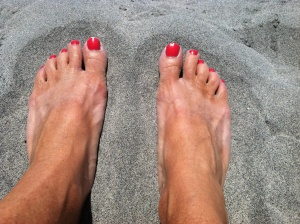 Toes in the sand in Oceanside