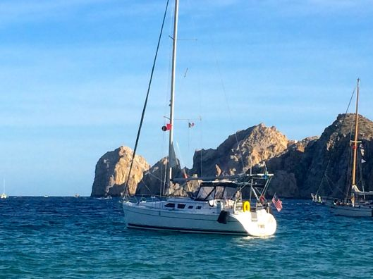 Sereno II at anchor