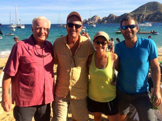 The crew of Sereno II.  Thank you Richard and Greg!