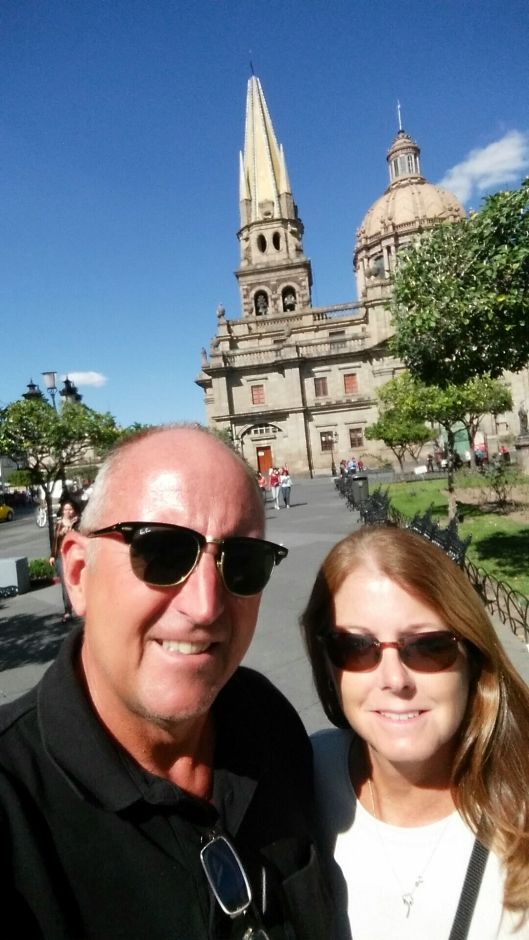 A selfie at the Guadalajara Cathedral