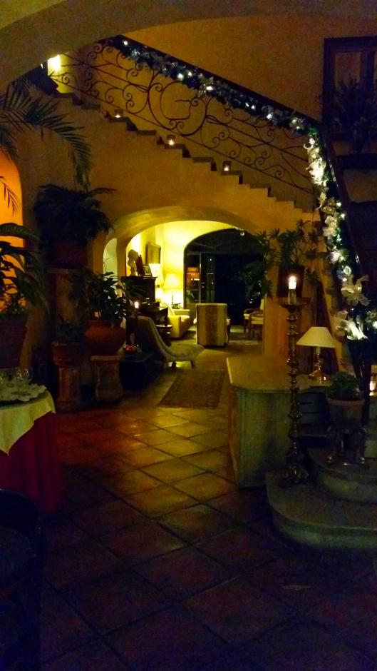 The Christmas lights at Villa Ganz