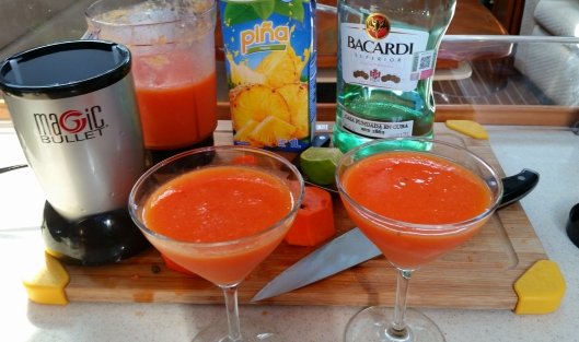 Papaya martini's on the boat