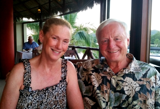 Anita and Richard.  We enjoyed our last dinner together overlooking Marina La Cruz