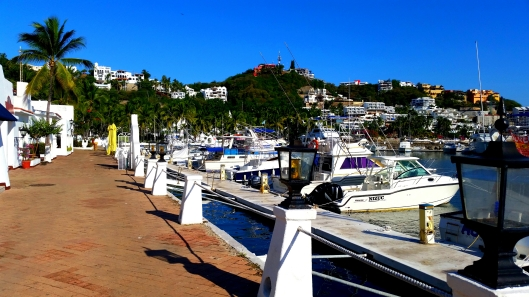 The small marina at Las Hadas.  Med moor docking