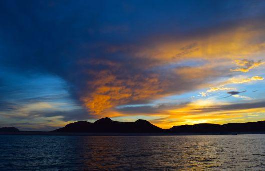 Sunrise over the Baja Peninsula