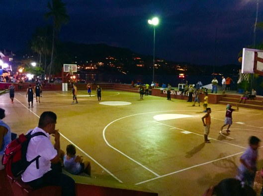 Basketball game on the Zocalo