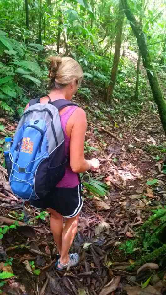 Looking for snakes and poison frogs before I step.  Next time I'm wearing army boots and carrying a big stick lol