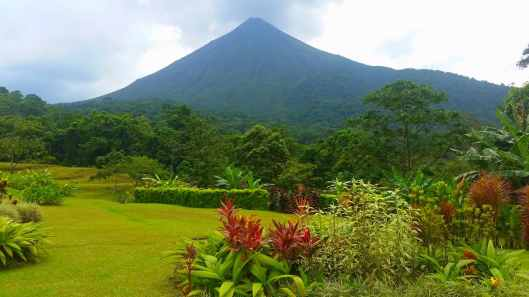 Arenal is a classic cone shaped volcano.  I've read it usually is covered in clouds but it was clear for most of our stay.  This was taken from our hotel.
