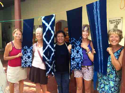 But the final products turned out beautiful. (l to r Cindy, Jean, our instructor, Gina, Linda)