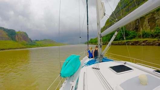 Even under cloudy skies the Culebra Cut was beautiful.