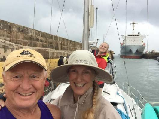 Richard and Anita selfie with Nicki stealing the shot!