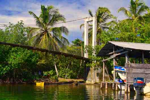 The race was held at a small village with a footbridge to get from one island to the other.