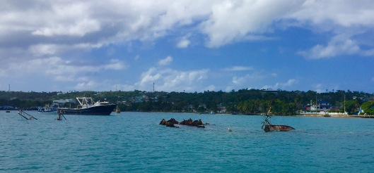 We were anchored next to these wrecks