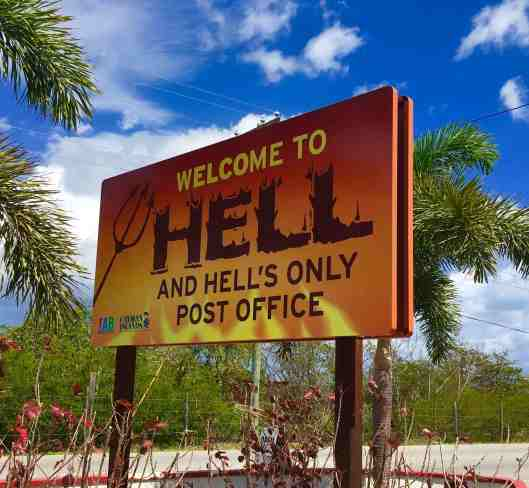 The town of Hell on Grand Cayman