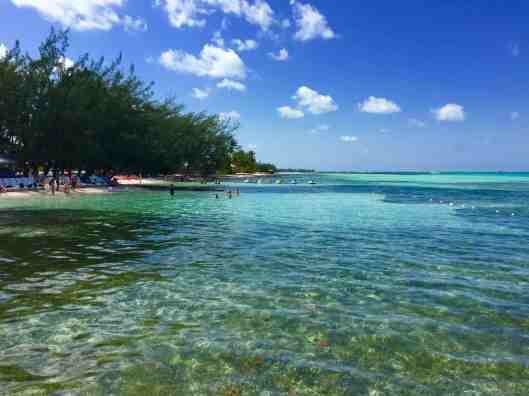 The beach at Rum Point on the north side of Grand Cayman