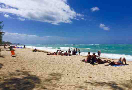 Seven Mile Beach Grand Cayman.  The surf was up the day we visited.