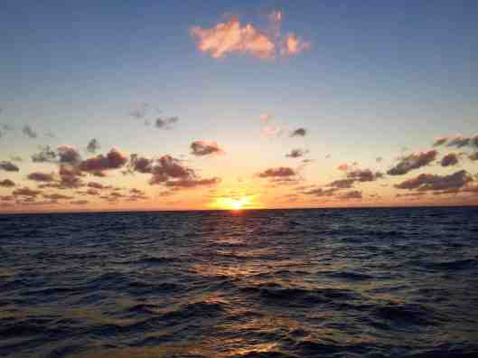 Sunrise on our way to Grand Cayman.